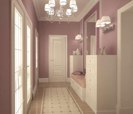 Этюд в розовых тонах: Коридор и прихожая в . Автор – Дизайнер Светлана Юркова