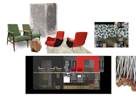 concept: Sala multimediale in stile  di      Massimo Viti Architetto                                   studio Architectural Make-Up+