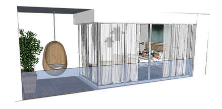 Projecto Suite   Varandas do Mar   Areia Branca: Quartos tropicais por Os Arquitetos