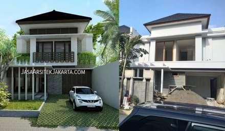 Rumah Bergaya Bali Modern di Cinere:  Rumah by Jasa Arsitek Jakarta
