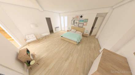 Dormitorio principal - Después: Dormitorios de estilo escandinavo de Beam Estudio