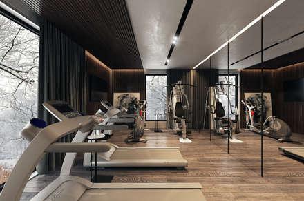Тренажёрный зал: Тренажерные комнаты в . Автор – MC Interior