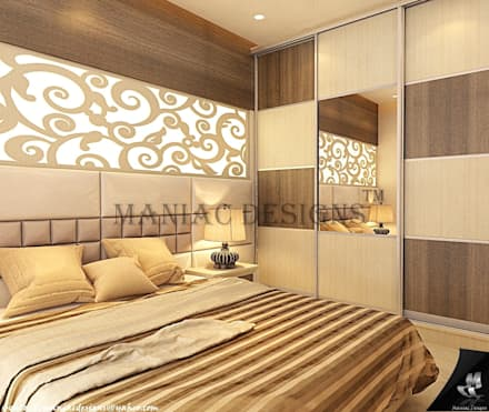 Bedroom Interior project: modern Bedroom by Maniac Designs