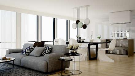 Hotel Apartment: Soggiorno in stile In stile Country di olivia Sciuto