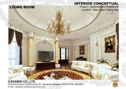 :  ห้องนั่งเล่น by CASAMIO Co.,Ltd.