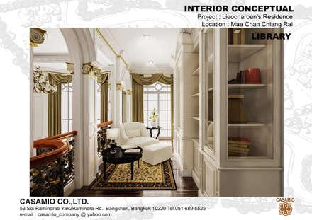 :  ห้องทำงาน/อ่านหนังสือ by CASAMIO Co.,Ltd.