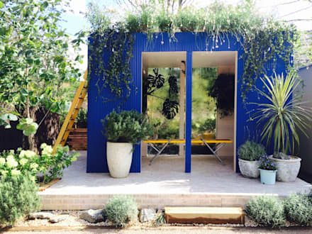 Centros de exhibiciones de estilo  por Garden & Landscape Design 風姿花伝