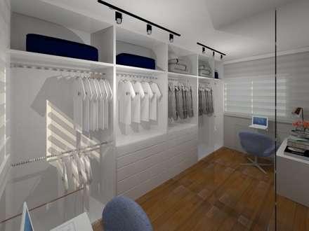 AP CC: Closets modernos por Caroline Castillo Arquitetura