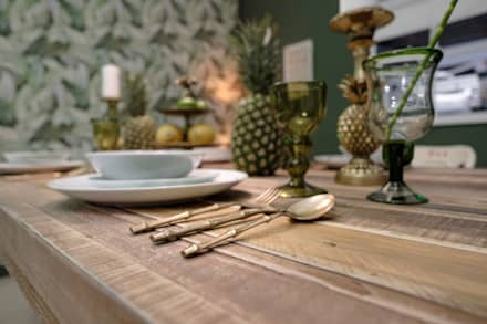 Rustic Tropical Dining Room : rustic Dining room by Little Mill House