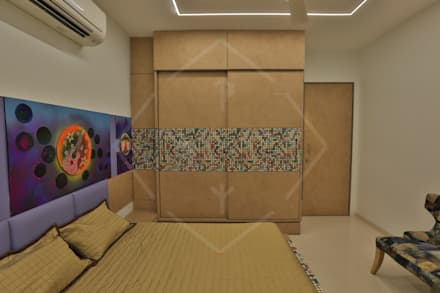 asian Bedroom by SPACCE INTERIORS