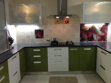 asian Kitchen by MAJESTIC INTERIORS