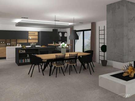 Grange - Plateau ardéchois: Salle à manger de style de style Moderne par Agence Maïlys MOUTON