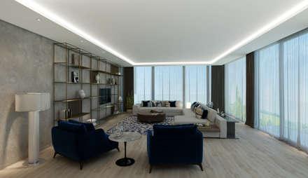 EZGİ AYDOGDU İçmimarlık Danışmanlık ve İnşaat Hiz. – Yalova_Villa: modern tarz Oturma Odası