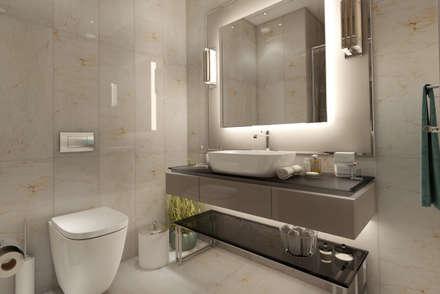EZGİ AYDOGDU İçmimarlık Danışmanlık ve İnşaat Hiz. – Yalova_Villa_Yatak Odası-3 Banyo: modern tarz Banyo