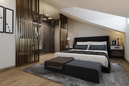 EZGİ AYDOGDU İçmimarlık Danışmanlık ve İnşaat Hiz. – Ataşehir_Konut_Yatak Odası: modern tarz Yatak Odası