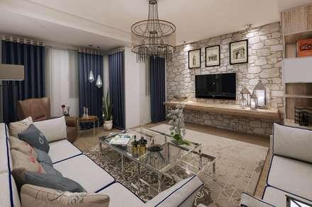 rustic Living room by EZGİ AYDOGDU İçmimarlık Danışmanlık ve İnşaat Hiz.