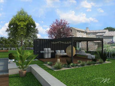Jardin des sens - Drôme Provençale: Jardin de style de style Méditerranéen par Agence Maïlys MOUTON