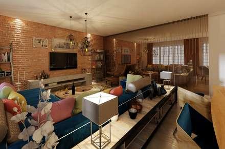 EZGİ AYDOGDU İçmimarlık Danışmanlık ve İnşaat Hiz. – Bakırköy_Konut: rustik tarz tarz Oturma Odası