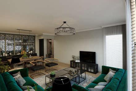 EZGİ AYDOGDU İçmimarlık Danışmanlık ve İnşaat Hiz. – Göztepe_Konut: modern tarz Oturma Odası