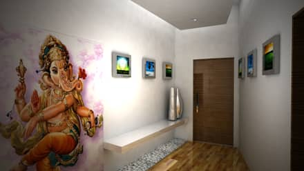 Corridor & hallway by Gurooji Design