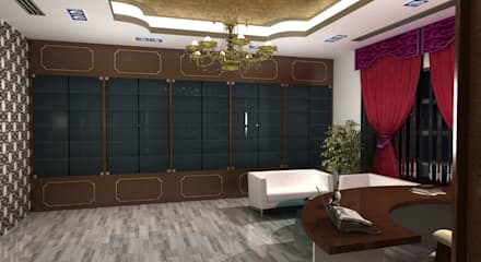 Arabic Villa : classic Study/office by Gurooji Design