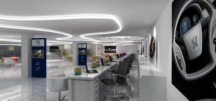 Peugeot Service station - SZR:  Car Dealerships by Gurooji Design
