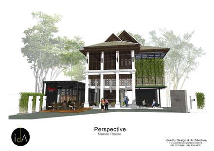 "Renovate  Guest house "" Manee House "":  โรงแรม by Identity Design & Architecture Part.,Ltd"