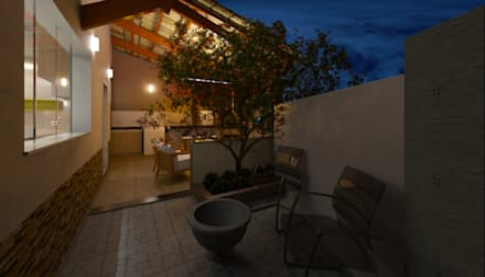 Jardines de invierno de estilo ecléctico por DTE Arquitetura