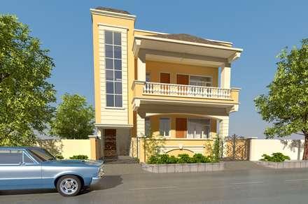 Villa in Vaishali nagar,Jaipur : mediterranean Houses by Aditya shrivastava