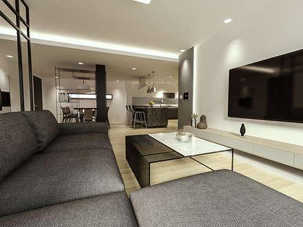 전주 주택 리모델링: 디자인 이업의  거실