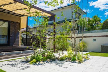 植栽: 株式会社 岡本ガーデンが手掛けた庭です。