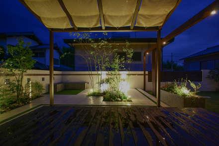 ナイトシーン2: 株式会社 岡本ガーデンが手掛けた庭です。