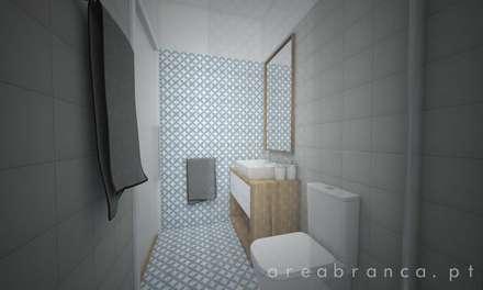 WC Suite 2: Casas de banho modernas por Areabranca