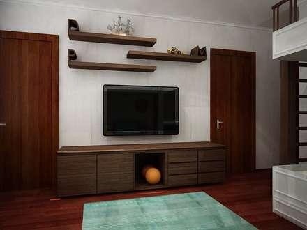 Mueble TV: Recámaras infantiles de estilo moderno por Zono Interieur