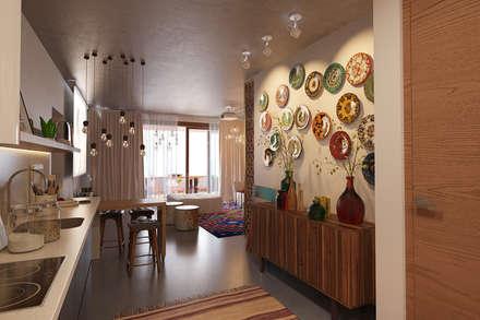 Гостиная в квартире ЖК Фамилия, Гурзуф: Гостиная в . Автор – MILLION ROOMS