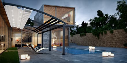 Architectural Pergola: modern Houses by Atria Designs Inc.