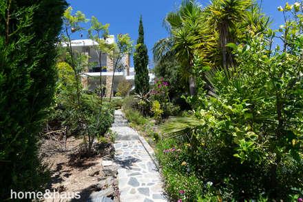 Jardín tropical: Jardines de estilo mediterráneo de Home & Haus | Home Staging & Foto