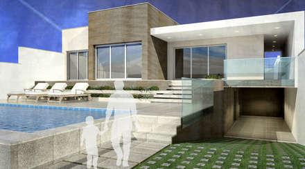 Moradia V4 - Loulé   a.b. 300,00 m2: Habitações  por ATELIER OPEN ® - Arquitetura e Engenharia