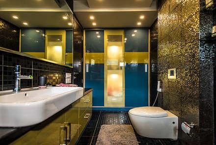 Washroom: modern Bathroom by Studio An-V-Thot Architects Pvt. Ltd.