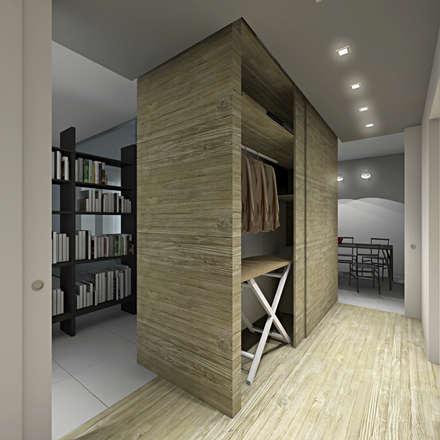 Casa LDN: Spogliatoio in stile  di SOA Spazio Oltre l'Architettura