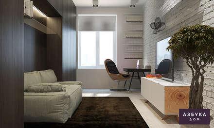 Квартира «Очарование серого»: Рабочие кабинеты в . Автор – Студия дизайна 'Азбука Дом'