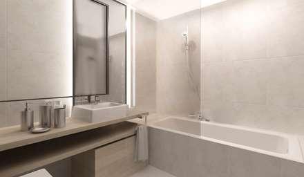 Interiores: Casas de banho modernas por Isothemix Lda