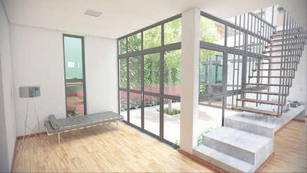 Casa Luz BH: Jardins minimalistas por OMA Arquitetura