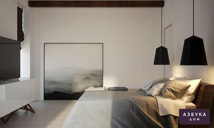 Частный дом «Осинка»: Спальни в . Автор – Студия дизайна 'Азбука Дом'
