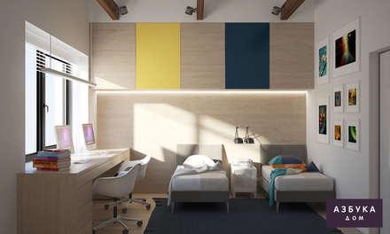 Habitaciones infantiles de estilo  por Студия дизайна 'Азбука Дом'