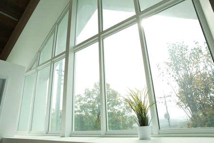 Blanc jardin: AAPA건축사사무소의  차고
