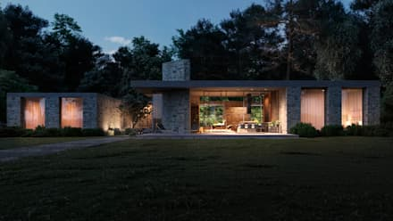 Casas de estilo escandinavo por Архитектурная студия Чадо