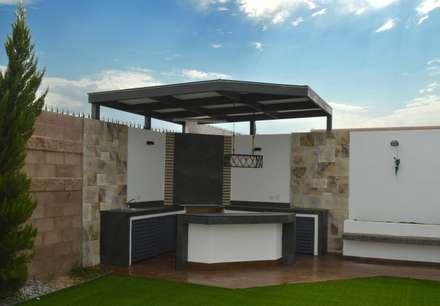 Area de Asador...: Jardines de estilo moderno por Daniel Teyechea, Arquitectura & Construccion