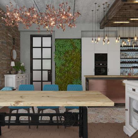 Коттедж в Михновке: Кухни в . Автор – 3D GROUP