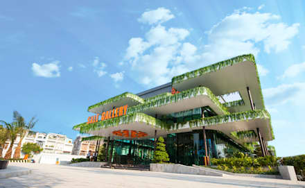 Salas de eventos de estilo  por Studio 3 - ONG&ONG Co., Ltd